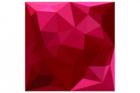 Firebrick Red Abstract Low Polygon Background example image 1
