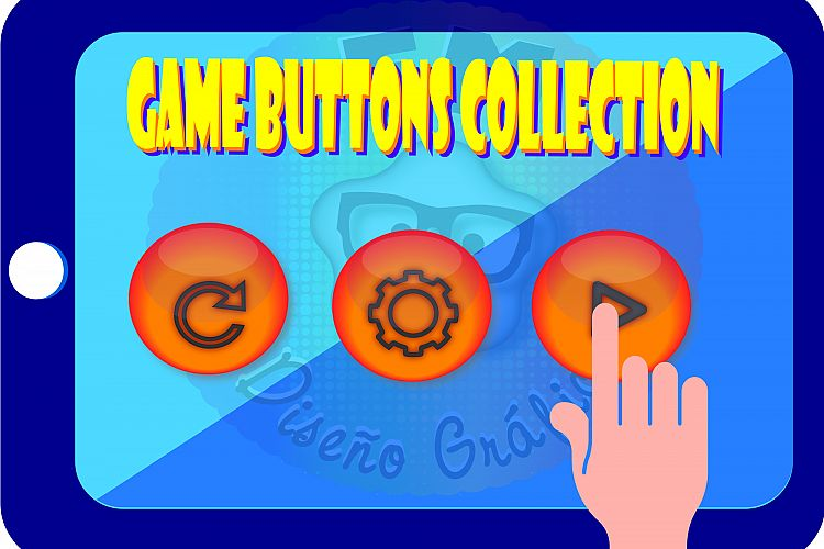 Game Buttons Collection example image 1