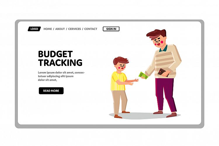 Family Budget Tracking And Finance Accounting Vector example image 1