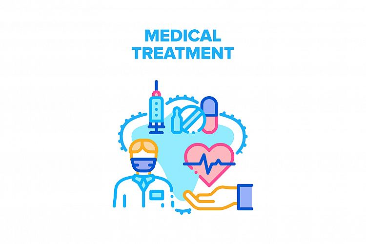 Medical Treatment Health Vector Concept Color example image 1