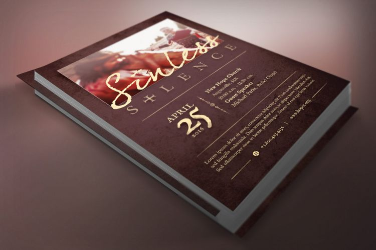Sinless Church Flyer Template example image 1