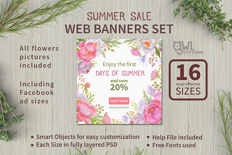 Summer Sale web banners set example image 1