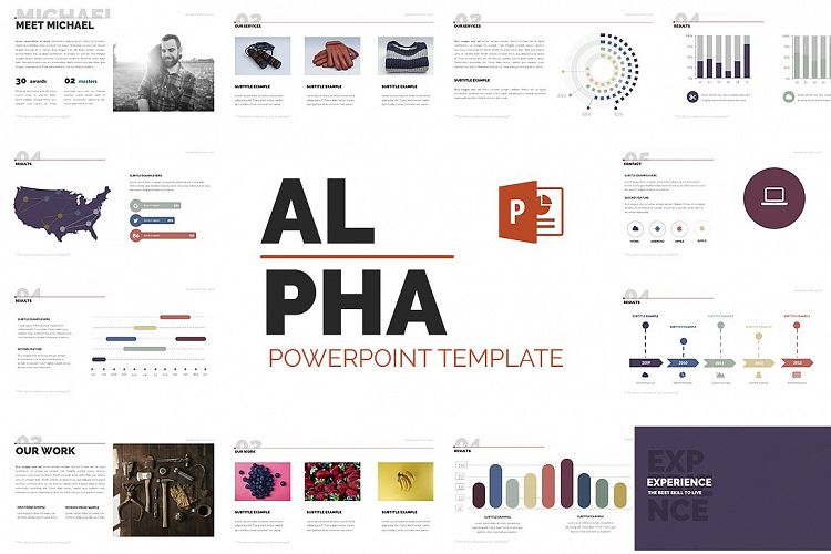 Alpha Powerpoint Presentation Template example image 1