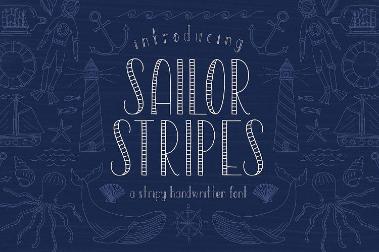 Sailor Stripes San Serif Font example image 1