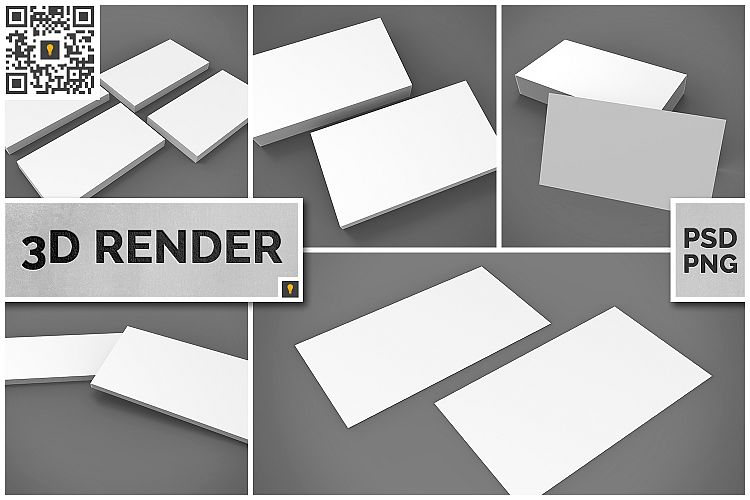 Business Card 3D Render example image 1