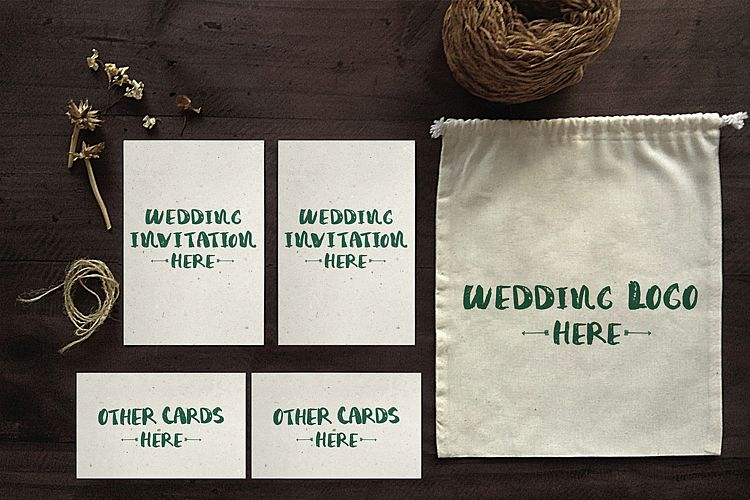 Wedding Invitation Mockup example image 1