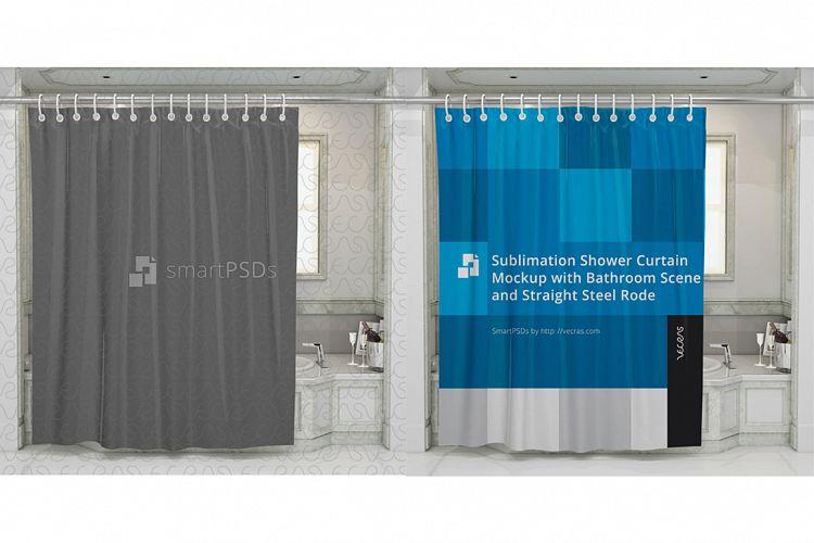 Sublimation Shower Curtain Mockup example image 1
