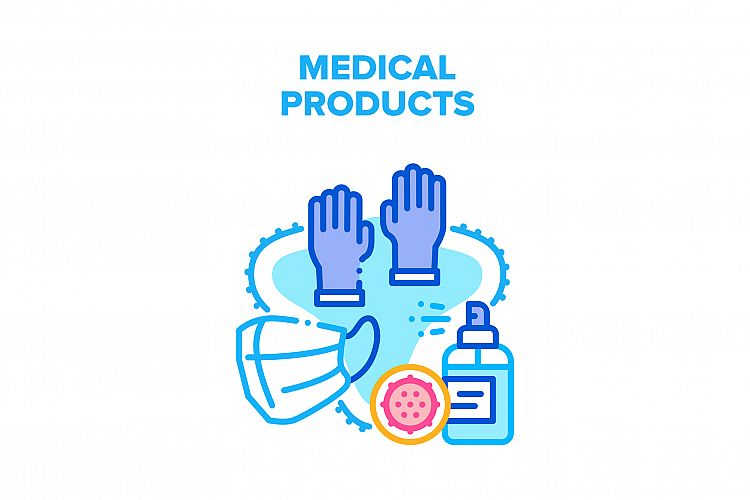 Medical Products Vector Concept Color Illustration example image 1