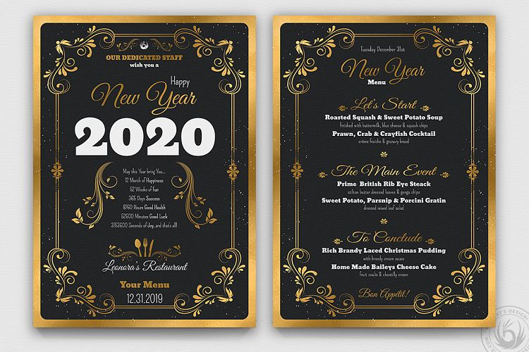 New Year Menu Template example image 1