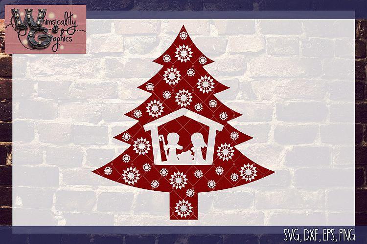 Christmas Tree Nativity Svg Dxf Png Eps Comm 119411 Svgs Design Bundles