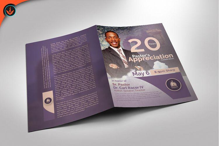 Modern Pastors Appreciation Program Photoshop Template 2