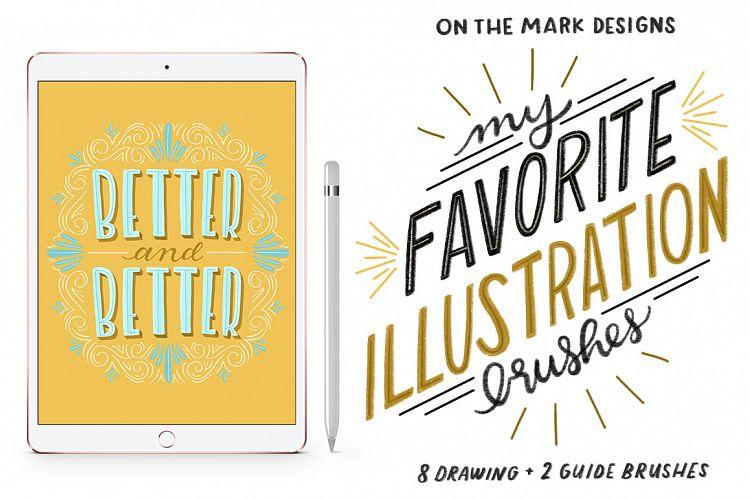 My Favorite Illustration Procreate Brushes example image 1