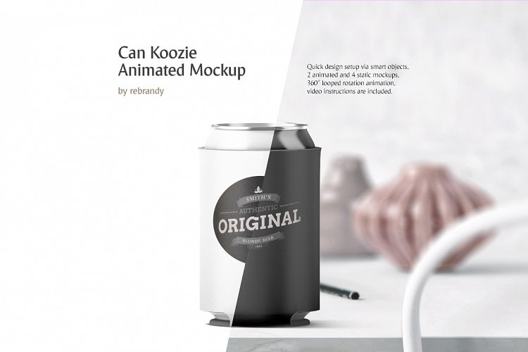 Can Koozie Animated Mockup example image 1