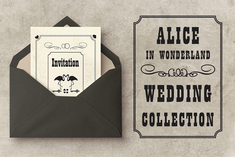 Wedding set Alice in Wonderland example image 1