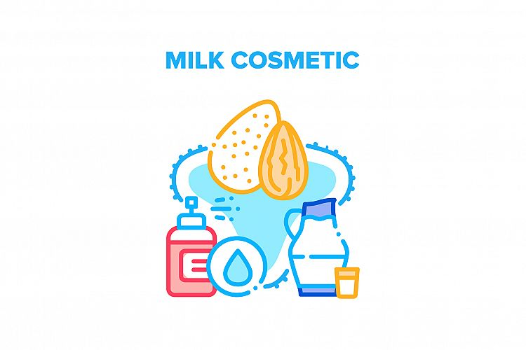 Milk Cosmetic Vector Concept Color Illustration example image 1