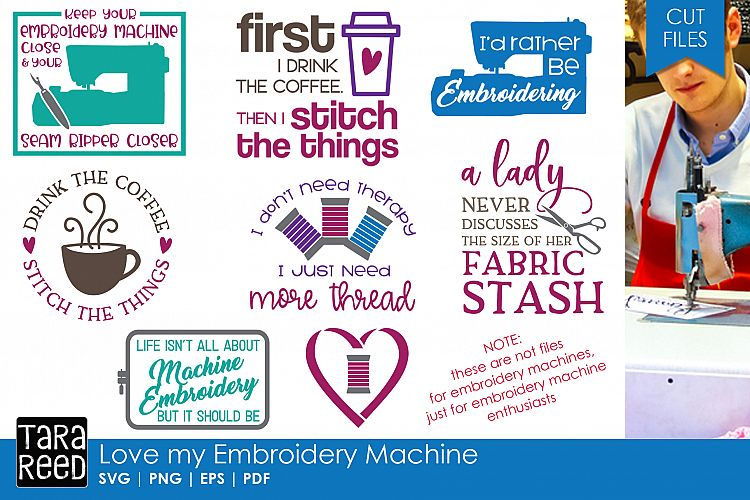 Love my Embroidery Machine - SVG and Cut Files for Crafters
