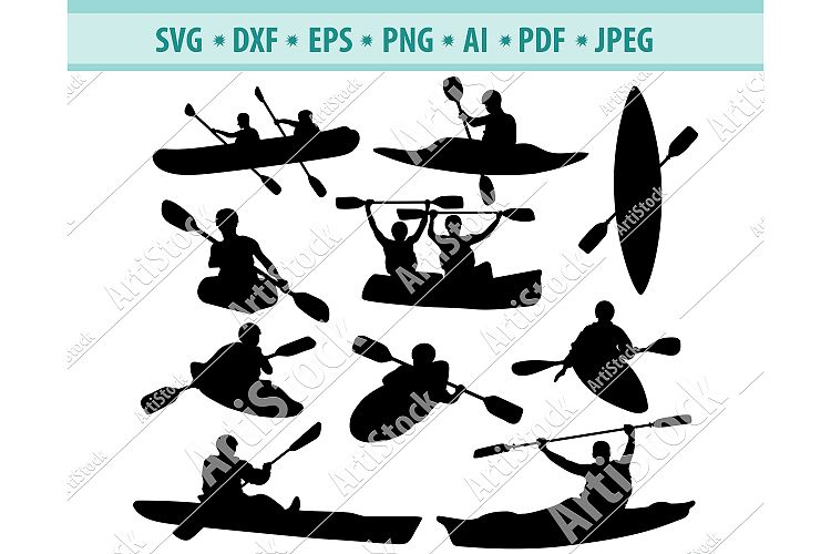 Download Canoe SVG, Kayak SVG, Sport Outdoor SVG, Sport Dxf, Png ...