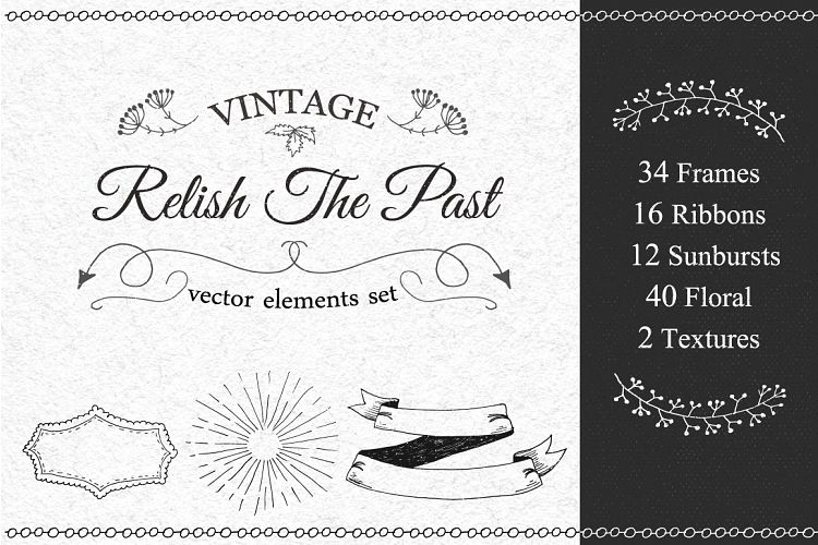 Vintage Vector Elements Set example image 1