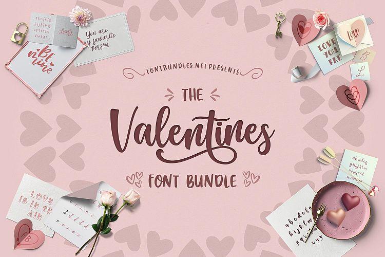 The Valentines Font Bundle
