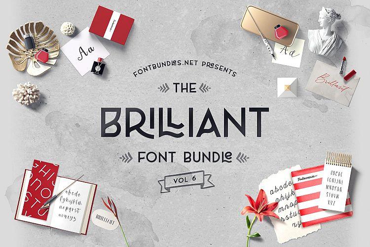 The Brilliant Font Bundle Volume 6