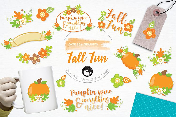 Fall Fun graphics and illustrations example image 1