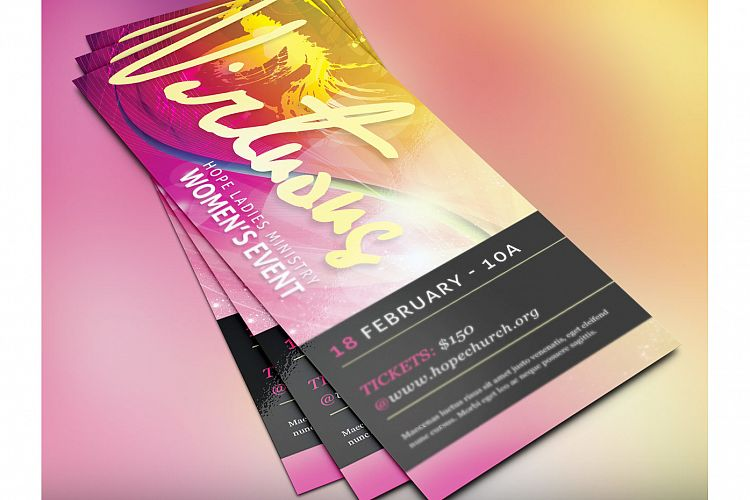 Virtuous Women Church Flyer Photoshop Template example image 1
