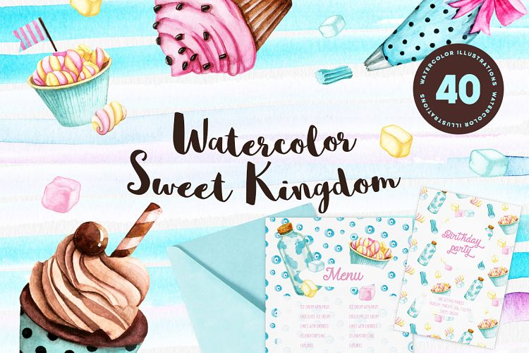 Watercolor Sweet Kingdom example image 1