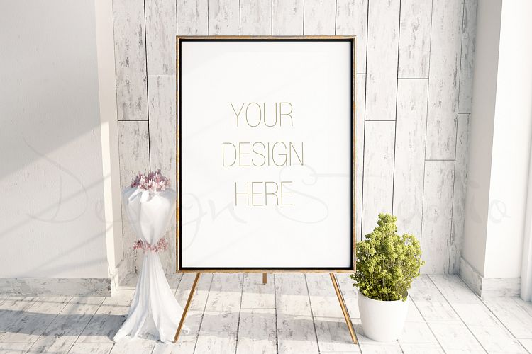 Styled Stock Photography, Easel Frame Mockup,  PSD Frame mockup  example image 1