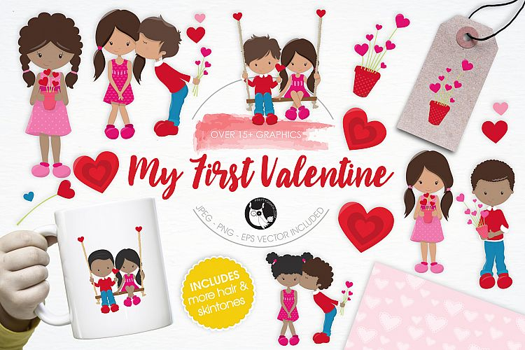 My First Valentine graphics and illustrations example image 1