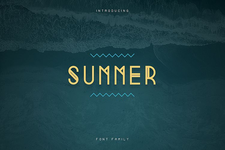 Summer Display Font family example image 1