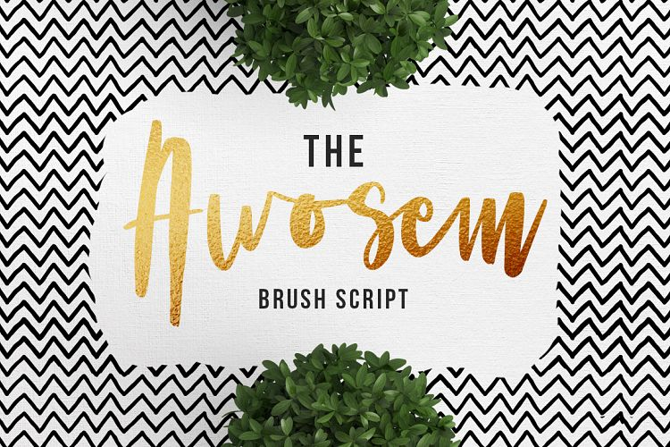 Awosem Typeface Quotes example image 1