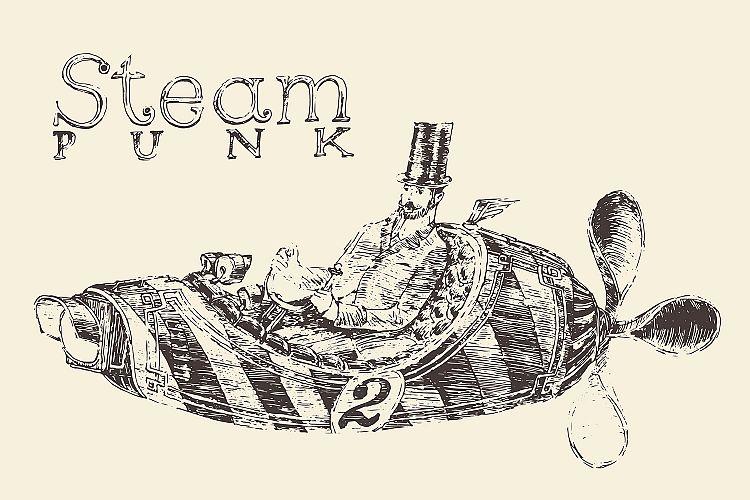 Steam punk airship example image 1