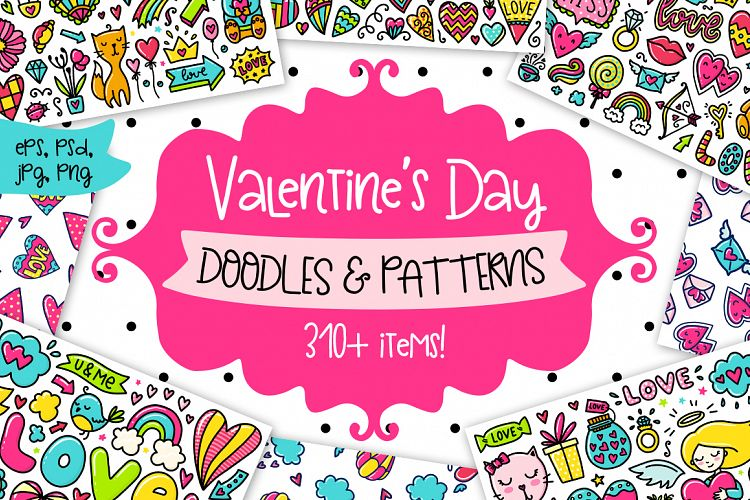 Valentine's Day Clipart & Patterns! example image 1