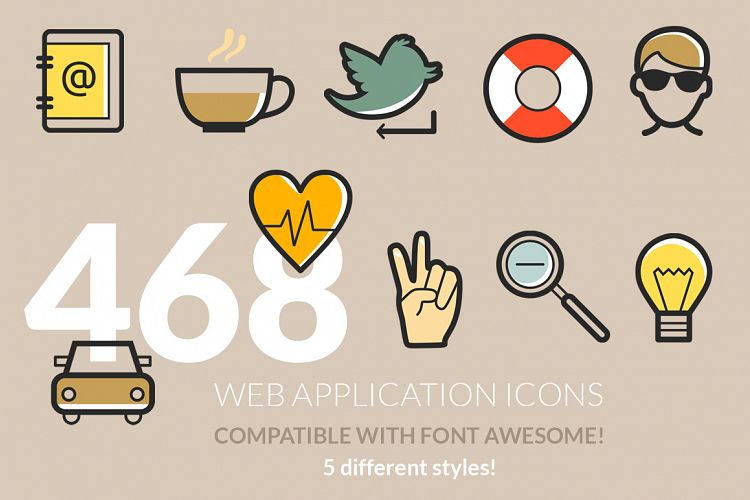 486 Web Application Icons example image 1