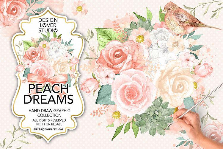 Watercolor Peach Dreams design example image 1