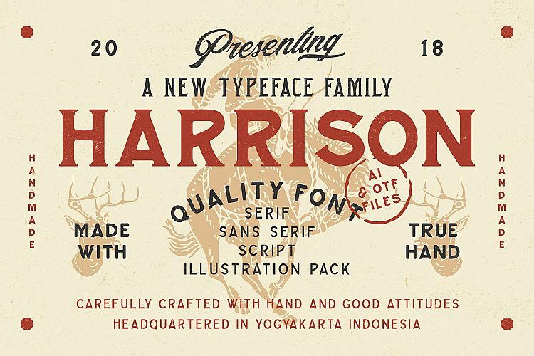 Harrison Font Family example image 1