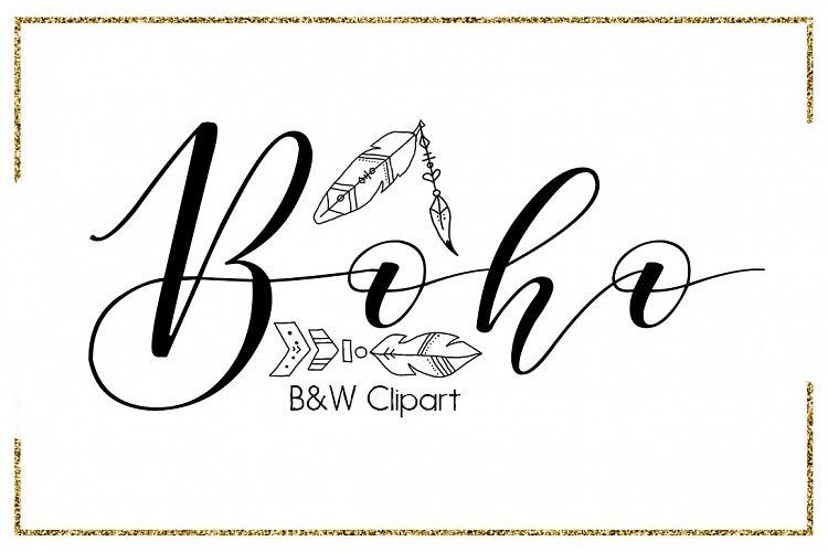 Boho Brush Strokes Digital Clipart Indian Clipart Circle Arrow