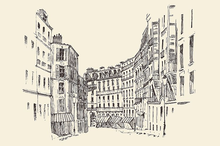 Streets in Paris, France example image 1
