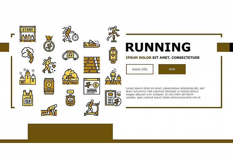 Running Athletic Sport Landing Web Page Header Banner example image 1