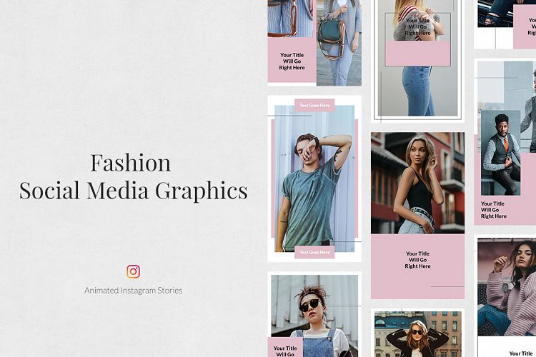 Fashion Animated Instagram Stories 167618 Web Elements Design Bundles