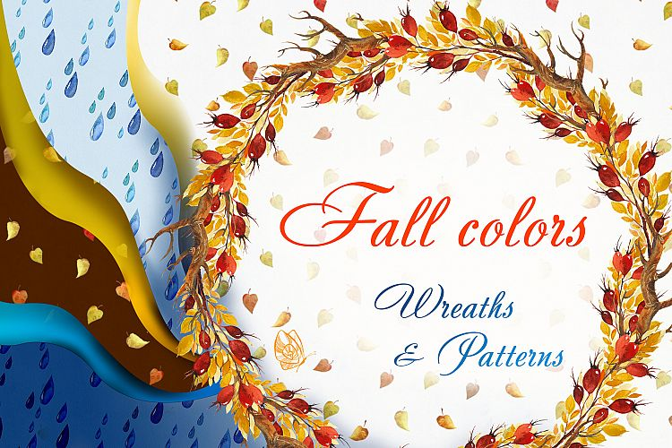 Fall colors. Wreaths & Patterns example image 1