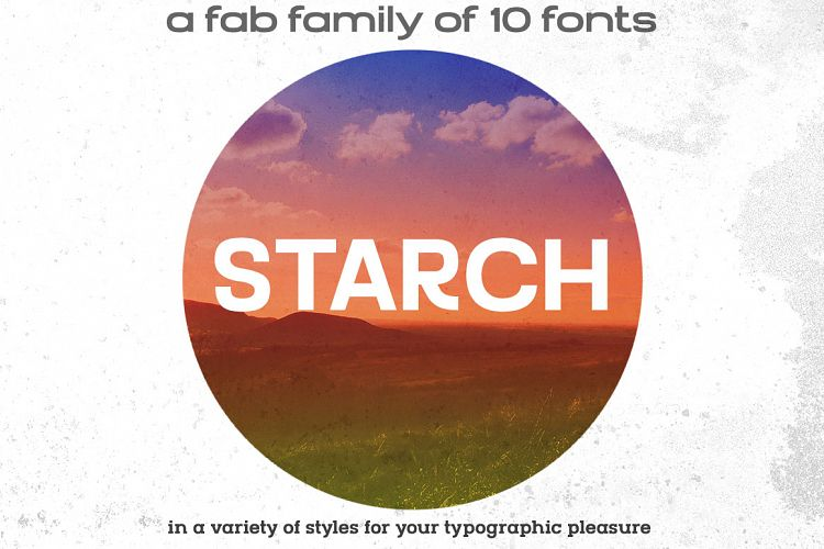 STARCH font family example image 1