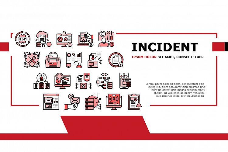 Incident Management Landing Header Vector example image 1