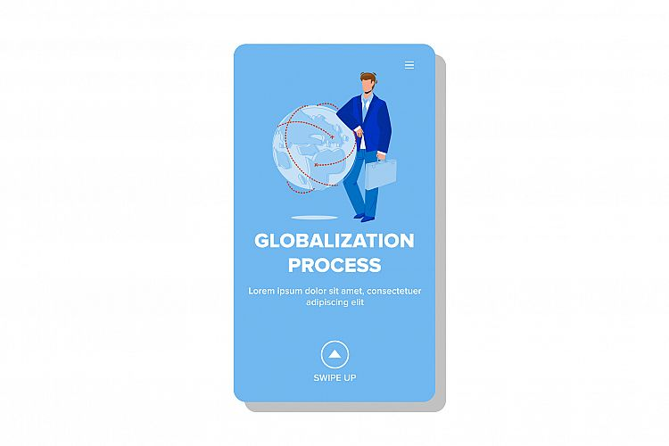 Globalization Process Making Businessman Vector example image 1