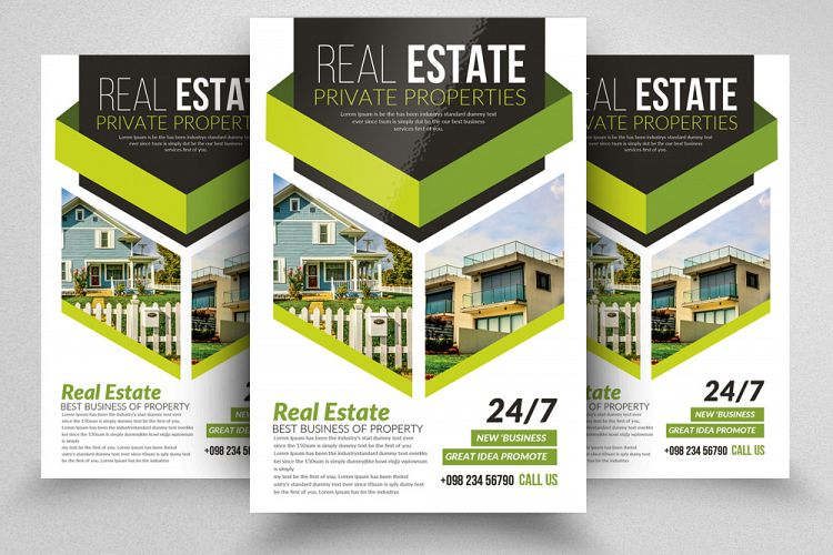 Viewing Product Real Estate Editable Flyer Template