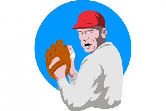 Baseball Player Pitcher example image 1