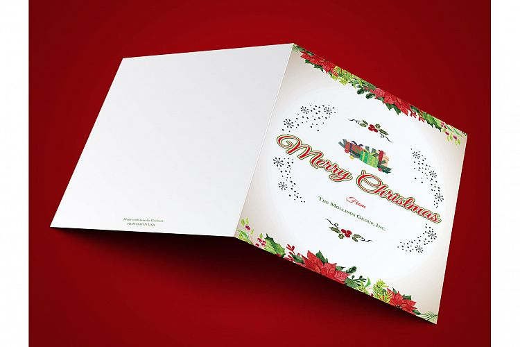 Vintage Christmas Greeting Card Template
