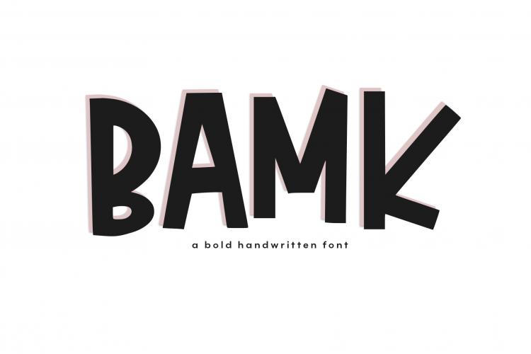 BAMK - A Bold Handwritten Font example image 1