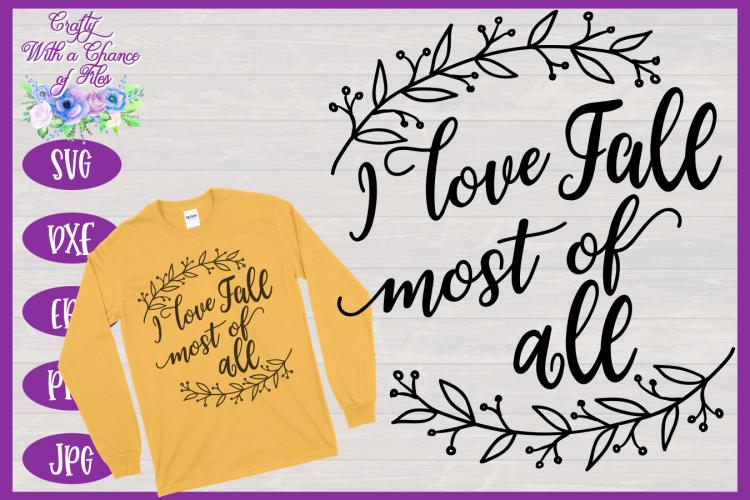 Download I Love Fall SVG SVG | Thanksgiving SVG | Fall SVG | Autumn