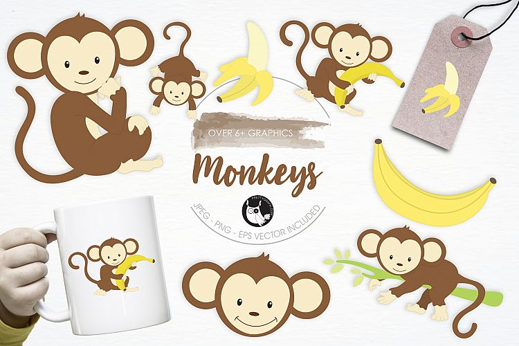 Monkeys graphics and illustrations example image 1